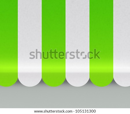 Green Awnings Background - stock photo