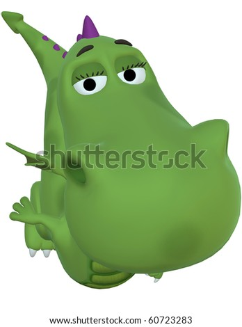 green baby dragon big face