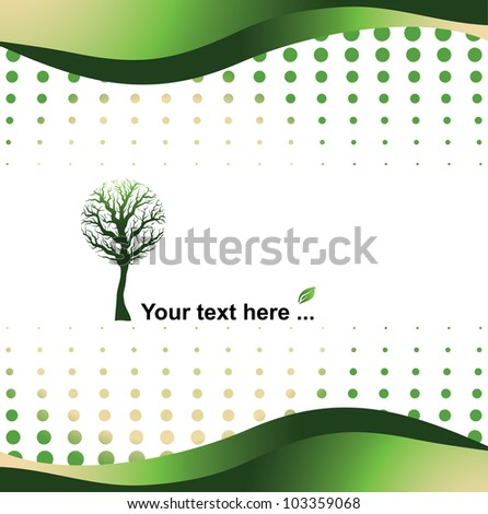 green background - eco concept illustration
