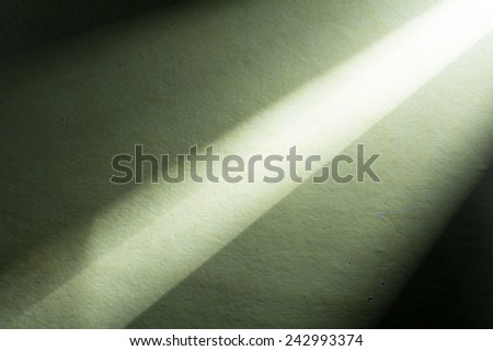 Green background illuminated from right corner spotlight and vintage grunge background texture - stock photo