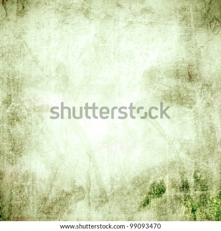 Green background image for the photo album, photo book with the grunge texture - stock photo
