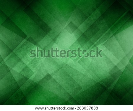 green background with abstract geometric triangle line design - stock photo