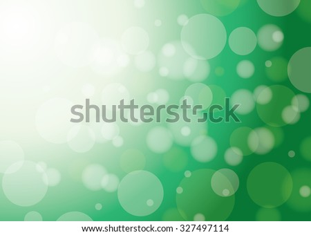 green background with lights and bokeh - stock photo
