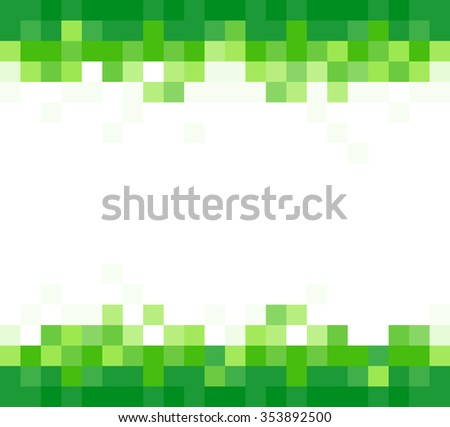 green background with mosaic effect. JPG version - stock photo