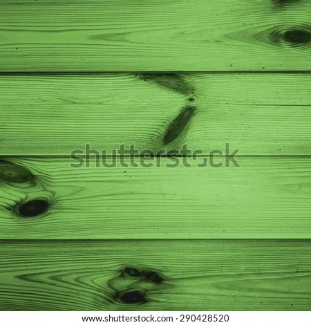 green background, wood texture - stock photo