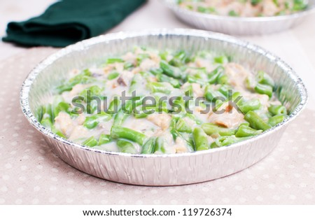 Green beans and french onions casserole - stock photo