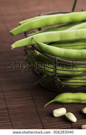 Green beans close up