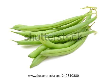 green beans on white background  - stock photo
