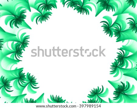 green beautiful abstract fractal background