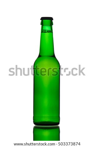 Green Beer Bottle with Crown Cap