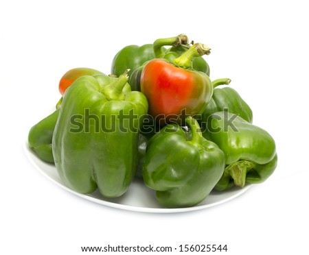 green bell peppers on a plate