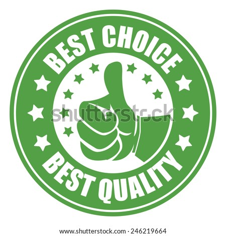 green best choice best quality sticker, badge, icon, stamp, label, banner, sign  isolated on white  - stock photo
