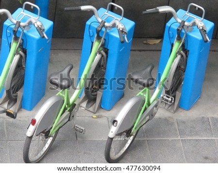 GREEN BICYCLES PARKING, PUBLIC BIKE