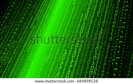 Green Binary Code Background
