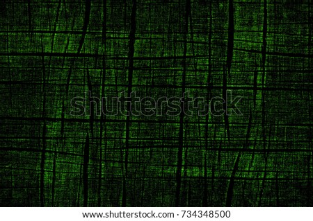 Green-Black-White Aged Grunge Wall Background. Old Weathered Peeled Painted Plaster Backdrop. Abstract Antique Cracked Stain Texture Background. Damaged Retro Stucco Scratched Pattern