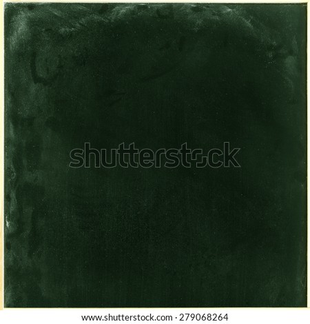 Green Blackboard Green Board Background/ Green Blackboard - stock photo