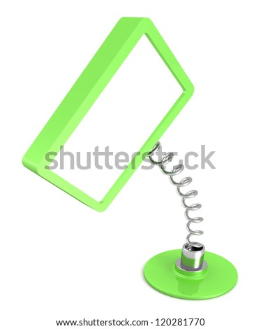 green blank table information banner on white background - stock photo