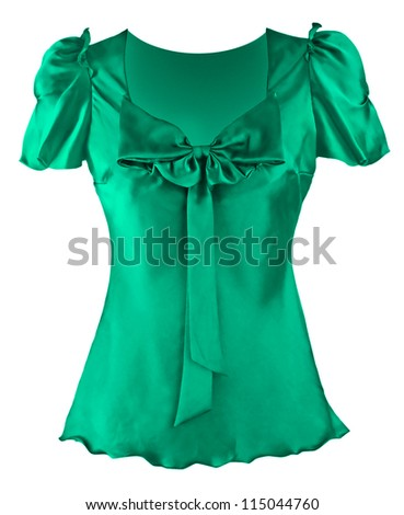 green blouse - stock photo