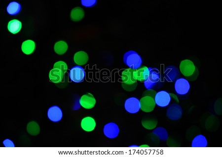 green&blue  bokeh abstract light background