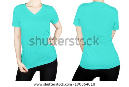 Turquoise shirt stock photos images pictures for Aqua blue color t shirt