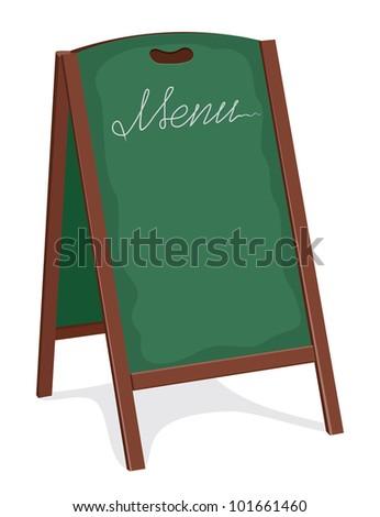 green board for restaurant - stock photo