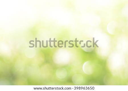 Green bokeh abstract background - stock photo