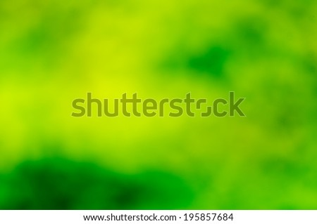Green bokeh and blur background