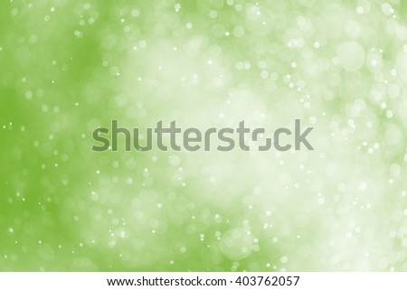 green bokeh background,rain mist on green background