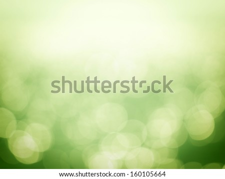 Green Bokeh backgrounds  - stock photo