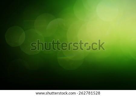 green bokeh blur backgrounds  - stock photo