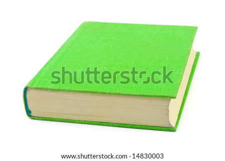 Green book isolated on white background - stock photo