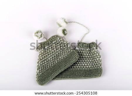 green booties - stock photo