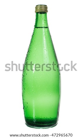 green bottle isolated on white