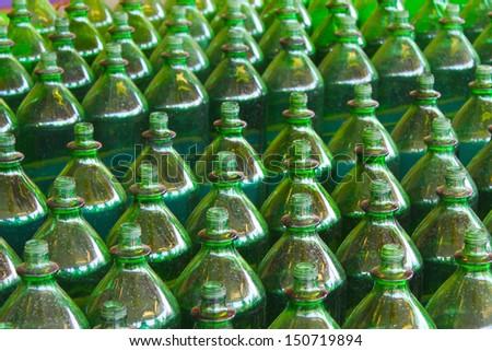 Green bottles - stock photo