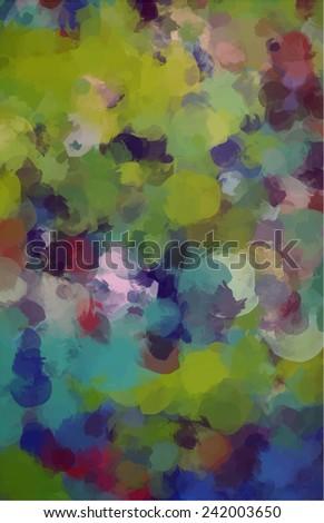 Green brush strokes background - stock photo