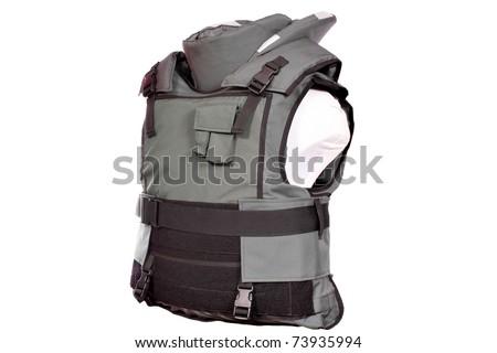 green bulletproof vest - stock photo