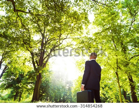 Green Business Inspiration Conservation Nature Concept - stock photo