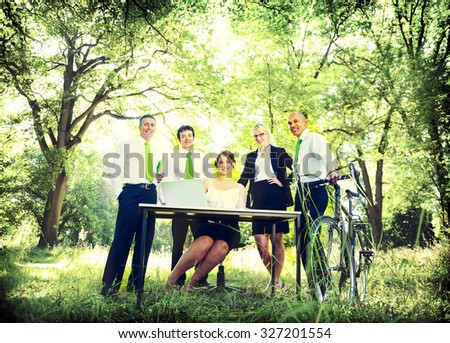 Green Business Team People Environmental Concept - stock photo