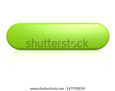 Green button - stock photo