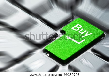 Green buy button on the keyboard