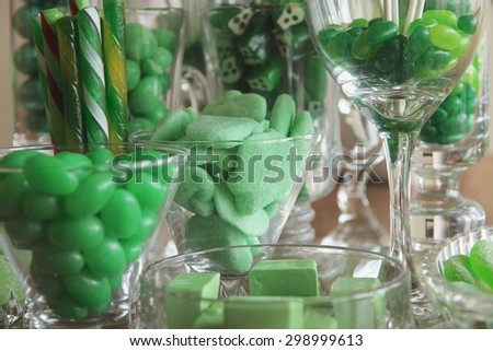 Green candy collection