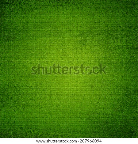 Green canvas texture abstract  background with vignette - stock photo