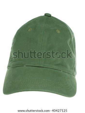 green cap isolated on white background
