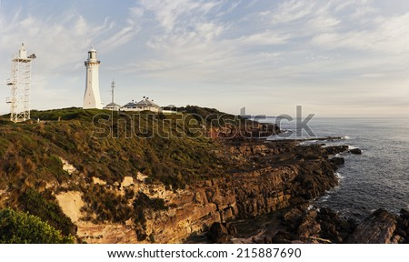 Green Cape Lighthouse, New South Wales, Australia - stock photo