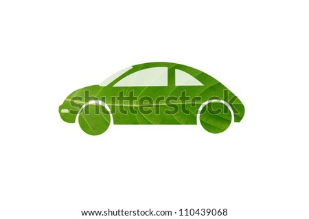 Green car for eco concept.  Check out my gallery for more eco collection - stock photo