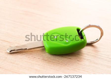 Green car remote key cover silicone - stock photo