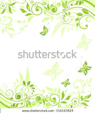 Green card. Raster copy - stock photo