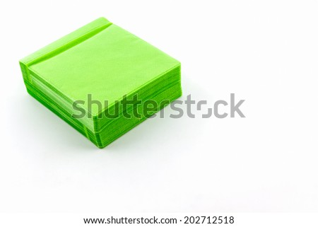 Green CD paper case on white background. - stock photo
