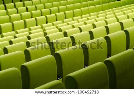 Green chairs. Horizontal pattern - stock photo