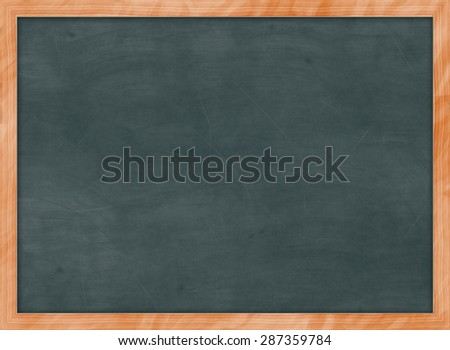 green chalk board - stock photo